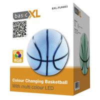 PELOTA DE BALONCESTO CON LUZ LED MULTICOLOR