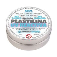 Plastilina Mágica UV Reactiva Color Azul